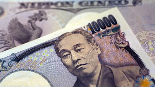Premium Japanese yen currency
